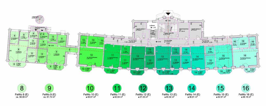 Ferienresort Salzgut - Grundriss Erdgeschoss